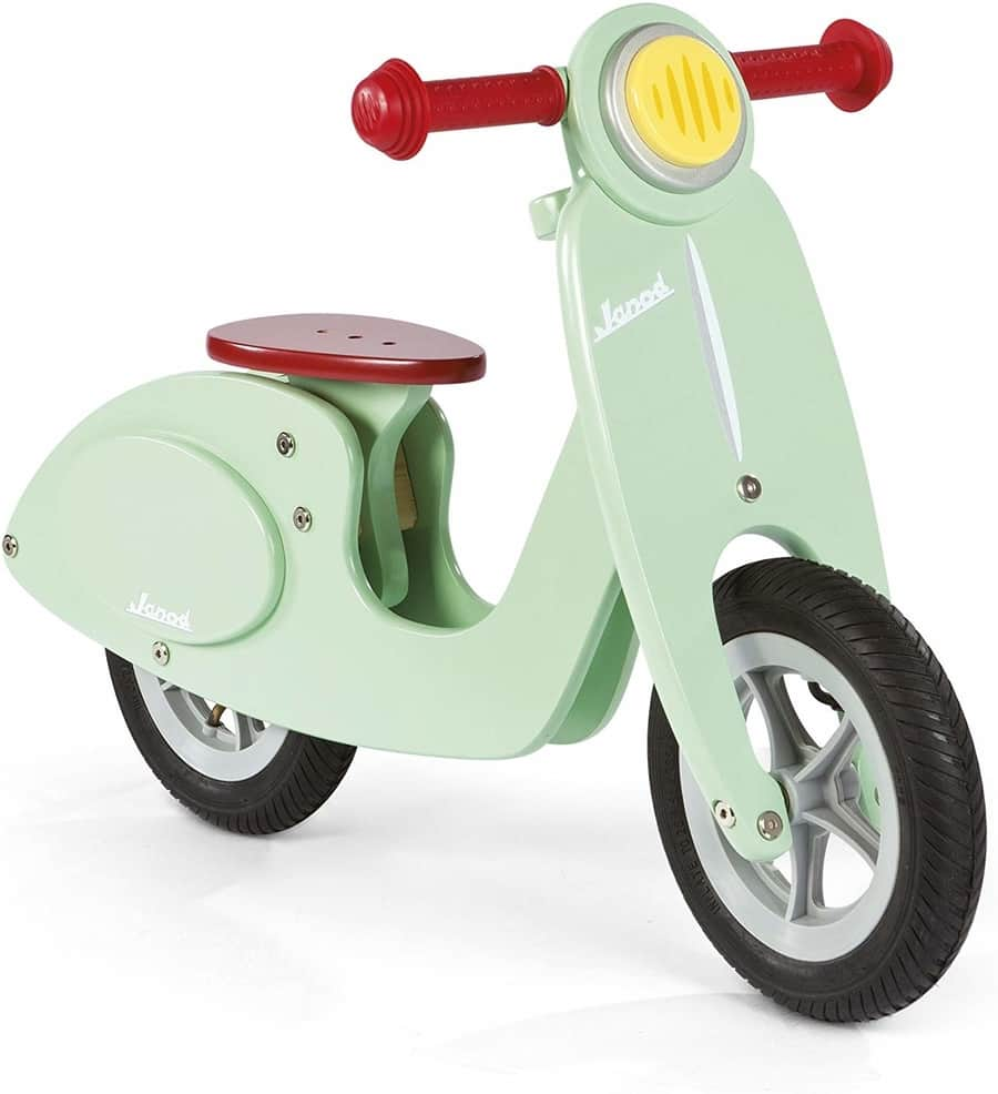 janod scooter mint wooden balance bike