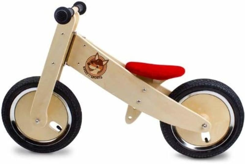 k-roo wooden balance bike